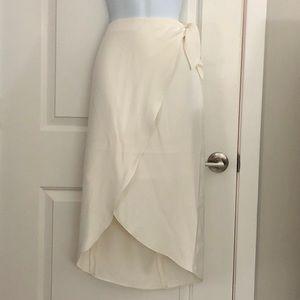Express Faux Wrap Midi Skirt